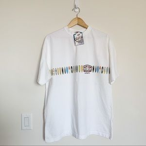 NWT Ron Jon Surf Shop White Graphic Tee L
